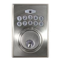 Hickory Hardware HH075773 Single Cylinder Grade 3 Electronic Keyless Entry Deadbolt with Contemporary Square Rose and