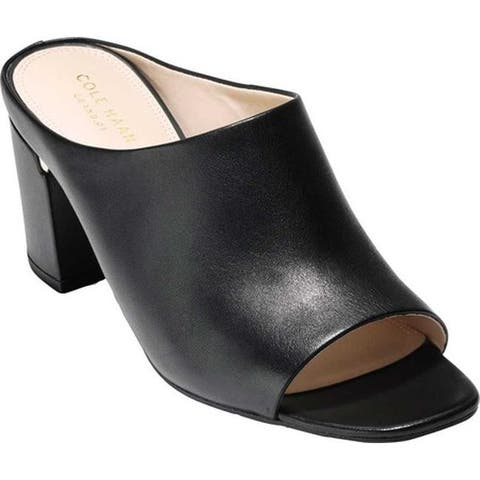 Cole Haan Women's Laree Slide Black Leather