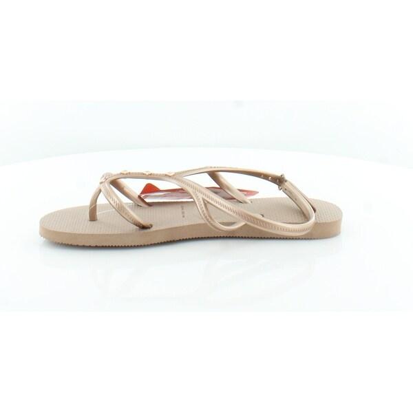 Shop Havaianas Allure Maxi Women's Sandals Rose Gold