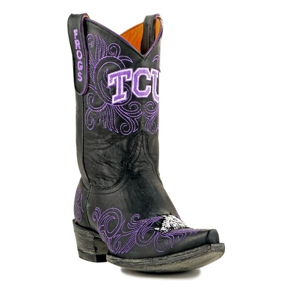 Gameday Boots Womens College Team Texas Christian Black
