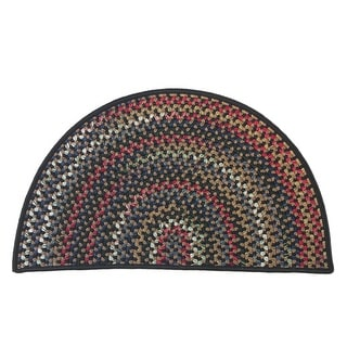 Colonial Mills Wayland Rustic Farmhouse Braided Multicolor Slice Hearth Rug