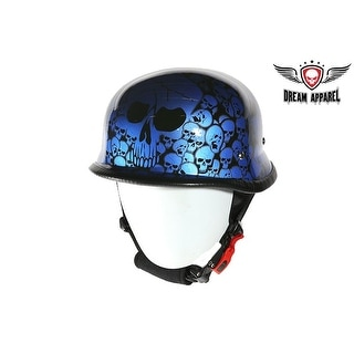 Blue Skull Graveyard German Novelty Helmet Size XL