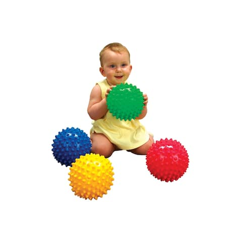 Edushape Textured Sensory Balls, 7 Inch, Set of 4
