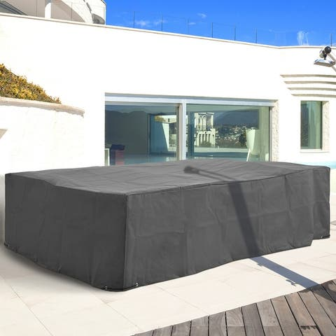 """Outsunny 97"""" x 65"""" x 26"""" Weatherproof Outdoor Sectional Patio Furniture Cover with Ultimate Weather Protection, Grey"""