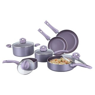 Culinary Edge CE20210 10-Piece Cookware Set, Purple