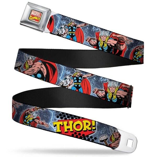 Marvel Comics Marvel Comics Logo Full Color Thor! Action Poses Pop Art Logo Seatbelt Belt