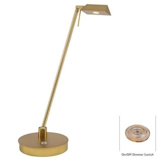Kovacs P4316-248 1 Light LED Desk Lamp in Honey Gold from the George's Reading Room-Bivouac Collection