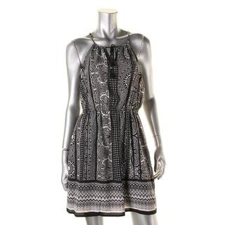 BeBop Womens Juniors Casual Dress Printed Spaghetti Straps