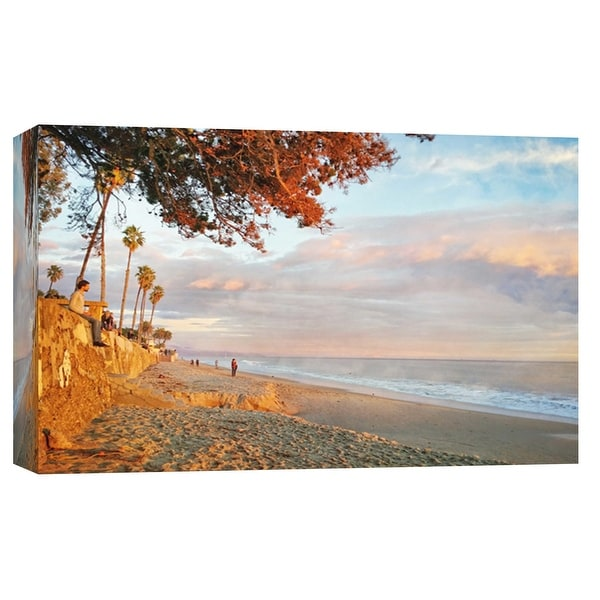 """PTM Images 9-102239 PTM Canvas Collection 8"""" x 10"""" - """"Butterfly Beach Sunset"""" Giclee Coastlines Art Print on Canvas"""