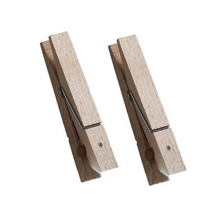 Wooden Clothespin LED Light - Set of 2