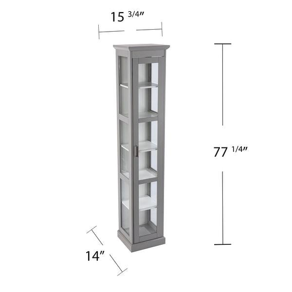 Porch & Den Balcom Transitional Gray Wood Curio