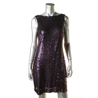 Jessica Howard Womens Sequined Cowl Back Clubwear Dress - 8