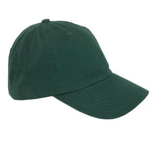 CTM® Cotton Basic Lightweight Baseball Cap (Option: Green)