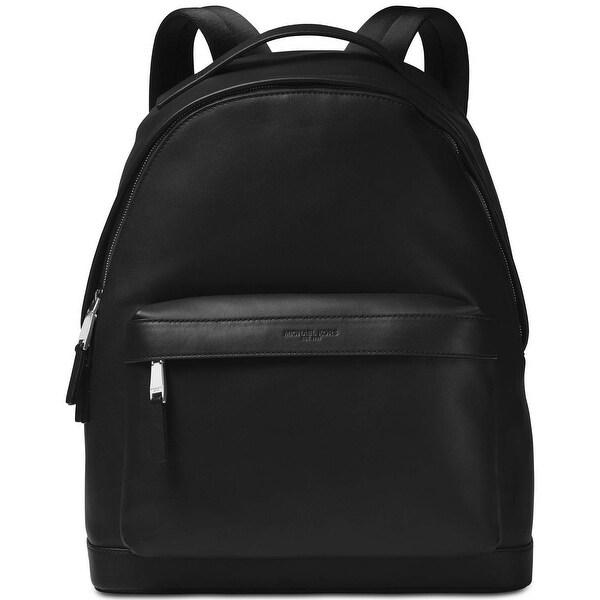 28f3ecbcbdc1 Shop Michael Kors Black Solid Zip Odin Backpack Classic Leather Back ...
