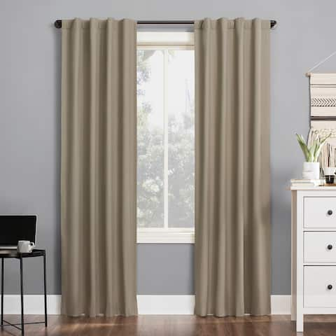 Sun Zero Cyrus Thermal Total Blackout Back Tab Curtain Panel