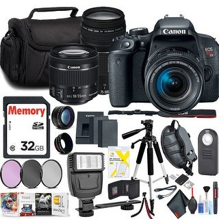 Canon EOS Rebel T7i DSLR Camera with 18-55mm & 75-300mm Lens Kit