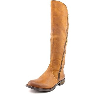 Steve Madden Northsde Women Round Toe Leather Brown Knee High Boot
