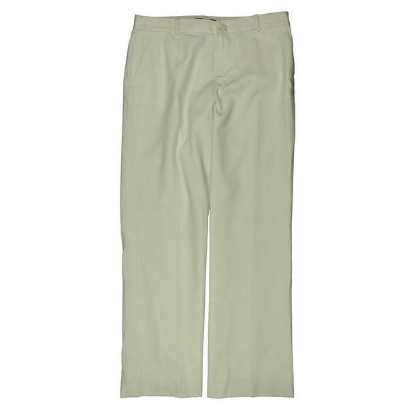 Lauren Ralph Lauren Womens Petites Dress Pants Wide Leg Button-Zip Fly