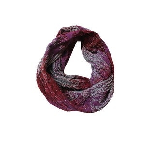 Collection Xiix Red Ombre Paisley Shine Infinity Loop Scarf OS