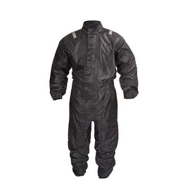 Motorcycle Biker One Piece Rain Suit Black RN1