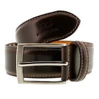 Romeo Gigli C856/35S T.MORO Dark Brown Leather Adjustable Mens Belt