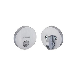 Kwikset 258RDT-S Uptown Low Profile Single Cylinder Deadbolt with SmartKey Technology - N/A
