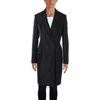 Burberry London Womens Top Coat Virgin Wool Notched Collar - 6