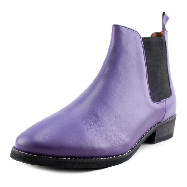 Eight Second Angel Caroline Chelsea Boot Round Toe Leather Ankle Boot