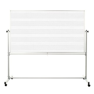 """OF-MB7248MM - Offex 72"""" x 48"""" Double Sided Reversible Mobile Music Whiteboard"""