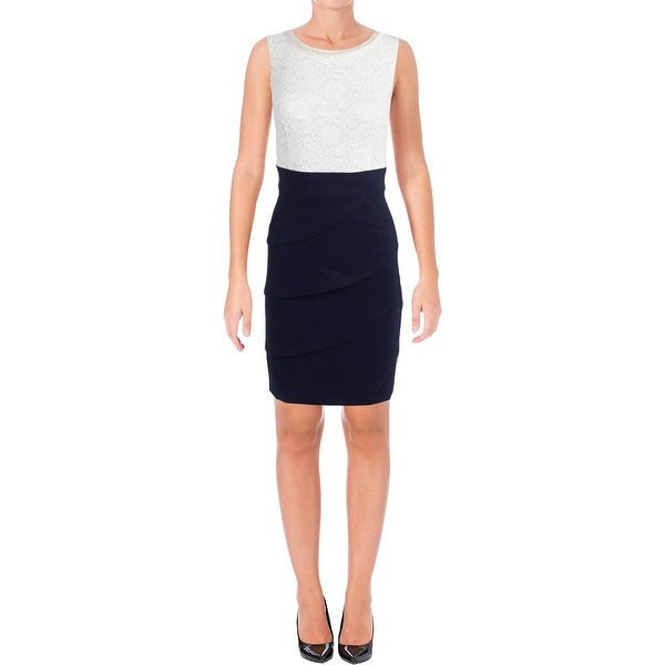 Connected Apparel Womens Casual Dress Applique Neck Tiered - 8