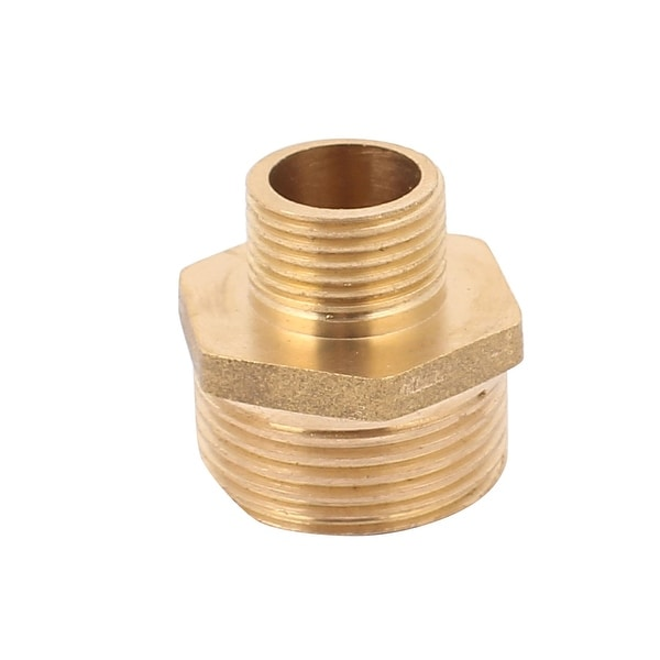 1//4BSP to 1//4BSP Male Thread Brass Pipe Hex Nipple Fitting Quick Adapter