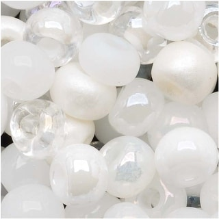 Link to Czech Seed Beads 6/0 ''White Wedding'' White & Pearl Mix (1 Ounce) Similar Items in Jewelry & Beading