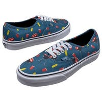 Vans Womens Authentic Canvas Low Top Lace Up Fashion Sneakers