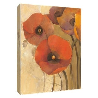 """PTM Images 9-154631  PTM Canvas Collection 10"""" x 8"""" - """"Heirloom Poppies I"""" Giclee Poppies Art Print on Canvas"""