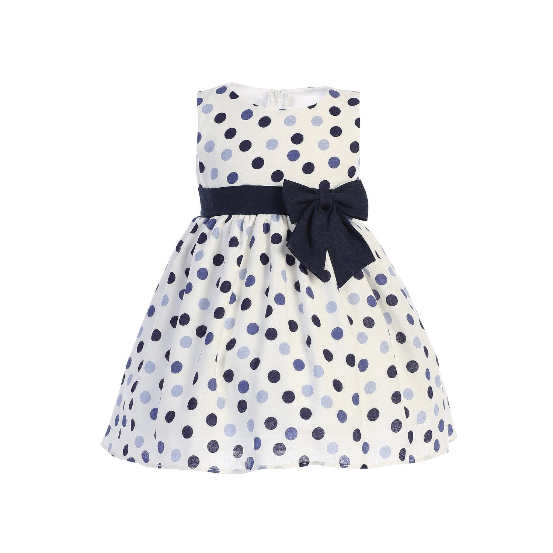 Carolilly Princess Dress with Wing Baby Girl Dress Summer Sleeveless Elegant Beach Polka Dot Hat