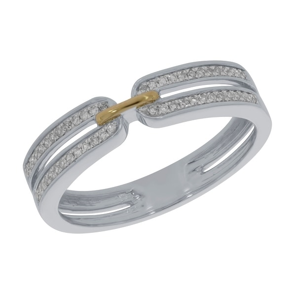 14k Gold Prism Jewel Natural G-H//SI1 Round Diamond Delicate Bypass Ring