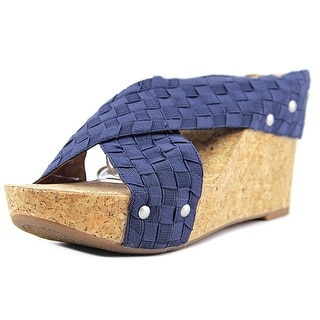 Lucky Brand Miller 2 Women Open Toe Canvas Wedge Sandal