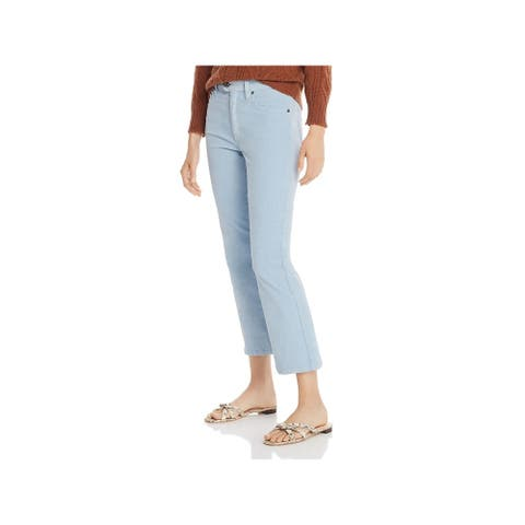 JOIE Womens Light Blue Corduroy Solid Cropped Pants Size 8