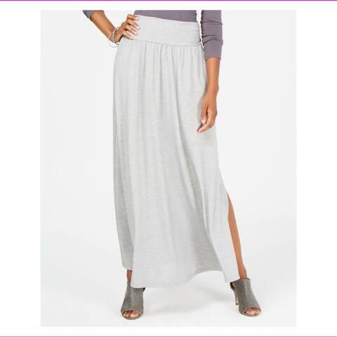 Style & Co Women's Comfort-Waist Maxi Skirt Light Gey Heather Size 2 Extra Large - Grey - XX-Large