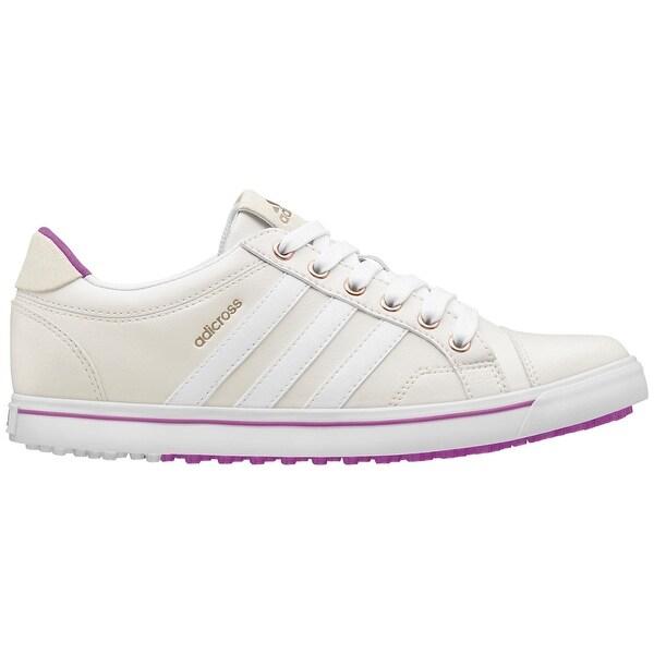 Adidas Women's Adicross IV Tour White/White/Flash Pink Golf