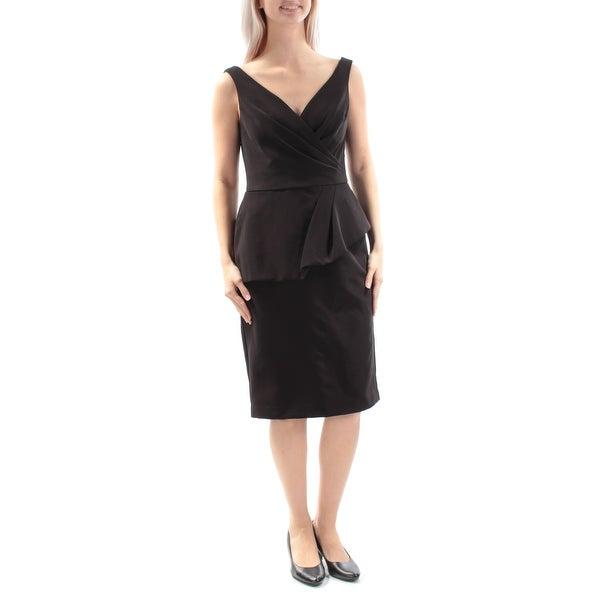 19b795459eb5 Shop RALPH LAUREN Womens Black Sleeveless V Neck Knee Length Peplum Evening  Dress Size: 6 - On Sale - Free Shipping On Orders Over $45 - Overstock - ...