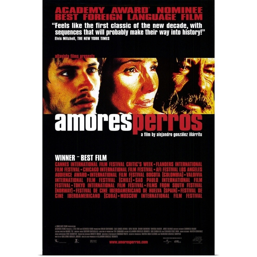Amores Perros 2000 poster print entitled amores perros (2000) - multi