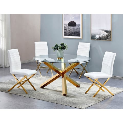Strick & Bolton Simms Stainless Steel 5-piece Dinette Set