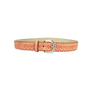 Style & Co. Women's Embossed Pattern Faux Leather Belt - S