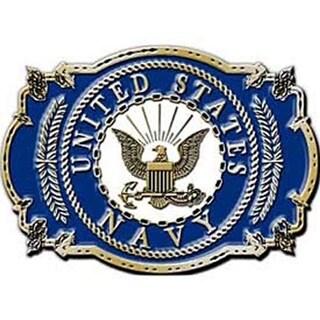 """U.S. Navy Belt Buckle - 3-1/8"""""""