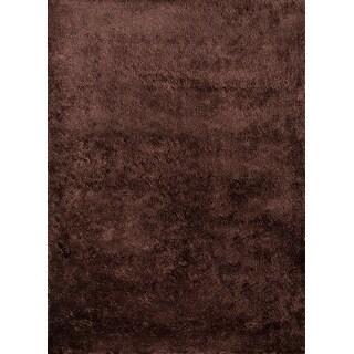 Momeni Luster Shag Brown Hand-Tufted Shag Rug - 3' x 5'