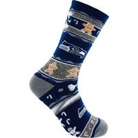 Seattle Seahawks Ugly Christmas Socks