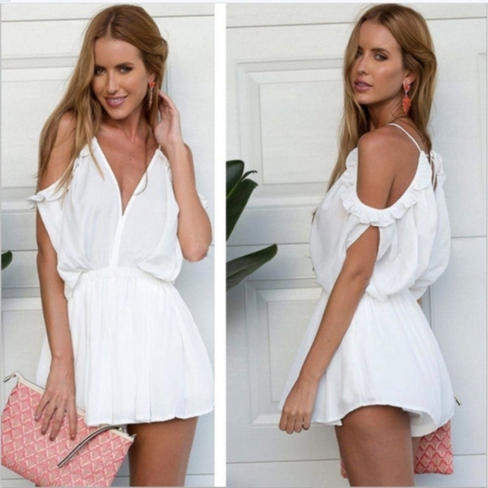 New Style Summer Sleeveless Women Fashion Sexy Party Beach Sling Jumpsuit