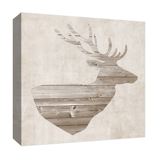 "PTM Images 9-126889  PTM Canvas Collection 12"" x 12"" - ""Landmark"" Giclee Deer Art Print on Canvas"