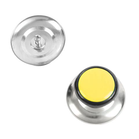 Pan Pot Lid Knob Handle Durable Universal Cookware Cover Replacement Yellow 2pcs